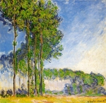 Claude Monet (1840-1926) Poplars, View from the Marsh Oil on canvas 1891-92