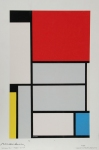 "Pieter Cornelis ""Piet\"" Mondriaan, after 1906 Mondrian (March 7, 1872 – February 1, 1944) Tableau I Oil on canvas, 1921 96.5 cm x 60.5 cm  Museum Ludwig, Cologne"