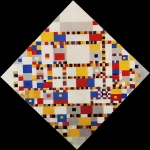 "Pieter Cornelis ""Piet\"" Mondriaan, after 1906 Mondrian (March 7, 1872 – February 1, 1944) Broadway Boogie Woogie Oil and paper on canvas, 1942-1944 127 cm × 127 cm (50 in × 50 in) Gemeentemuseum, The Hague"