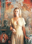 Vasily Igorevich Nesterenko (1967, Russia, Pavlograd) Portrait of a woman on a background of ancient painting Oil on canvas, 1997 150 x 125 cm