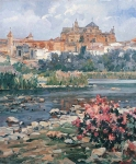 Vasily Igorevich Nesterenko (1967, Russia, Pavlograd) Cordoba Oil on canvas, 1995 85 x 70 cm