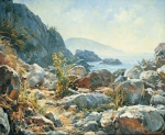 Vasily Igorevich Nesterenko (1967, Russia, Pavlograd) Crimean coast Oil on canvas, 2000 75 x 100 cm