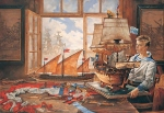 Vasily Igorevich Nesterenko (1967, Russia, Pavlograd) Dreams about the Navy Oil on canvas, 1996 160 x 230 cm