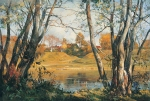 Vasily Igorevich Nesterenko (1967, Russia, Pavlograd) A warm autumn day. Zvenigorod Oil on canvas, 1999 80 x 120 cm