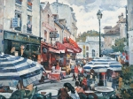 Vasily Igorevich Nesterenko (1967, Russia, Pavlograd) Corner of Montmartre Oil on canvas, 1993 75 x 100 cm
