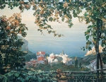 Vasily Igorevich Nesterenko (1967, Russia, Pavlograd) St. Anne\'s Skete on Mount Athos Oil on canvas, 1997 100 x 130 cm
