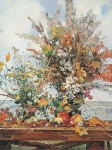 Vasily Igorevich Nesterenko (1967, Russia, Pavlograd) Autumn bouquet Oil on canvas, 1996 100 x 80 cm