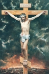 Vasily Igorevich Nesterenko (1967, Russia, Pavlograd) Crucifixion Oil on canvas, 1999 300 x 200 cm