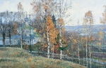 Vasily Igorevich Nesterenko (1967, Russia, Pavlograd) The last leaves Oil on canvas, 1995 72 x 110 cm