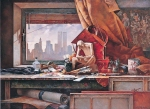 Vasily Igorevich Nesterenko (1967, Russia, Pavlograd) Still life with the attributes of art Oil on canvas, 1992 138 x 188 cm