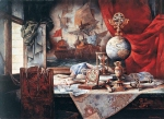 Vasily Igorevich Nesterenko (1967, Russia, Pavlograd) Still-life with the globe Oil on canvas, 1992 140 x 185 cm