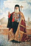 Vasily Igorevich Nesterenko (1967, Russia, Pavlograd) Portrait of the Jerusalem Patriarch Diodorus Oil on canvas, 1996 300 x 200 cm