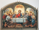 Vasily Igorevich Nesterenko (1967, Russia, Pavlograd) The Last Supper Oil on canvas, 1997 300 x 400 cm Patriarchal refectory of the Cathedral of Christ the Savior