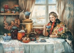 Vasily Igorevich Nesterenko (1967, Russia, Pavlograd) Candy, bagels ...  Oil on canvas, 1997 150 x 220 cm
