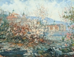 Vasily Igorevich Nesterenko (1967, Russia, Pavlograd) Seasons Spring on Mount Athos Oil on canvas, 1996 140 x 180 cm