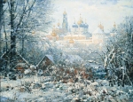 Vasily Igorevich Nesterenko (1967, Russia, Pavlograd) Seasons Winter in the Trinity-Sergius Lavra Oil on canvas, 1994 140 x 180 cm