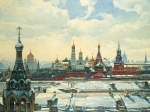 Vasily Igorevich Nesterenko (1967, Russia, Pavlograd) View of the Kremlin from the Old Town Square Oil on canvas, 1998 150 x 200 cm