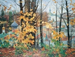Vasily Igorevich Nesterenko (1967, Russia, Pavlograd) Seasons Autumn in the Pechora Oil on canvas, 1996 140 x 180 cm