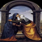 Visitation  1503  Oil on wood, 232 x 146 cm  Galleria degli Uffizi, Florence
