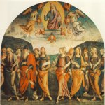 Pietro Perugino (1445-1523)  The Almighty with Prophets and Sybils  Fresco, 1500  90 1/8 x 145 5/8 inches (229 x 370 cm)  Collegio del Cambio, Perugia, Italy