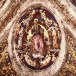 Pietro Perugino (1445-1523)  God the Creator and Angels  Fresco, 1507-1508  94 3/8 x 94 3/8 inches (240 x 240 cm)  Stanza dell'Incendio di Borgo, Palazzi Vaticani, Vatican, Vatican City State