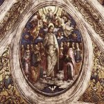 Pietro Perugino (1445-1523)  The Holy Trinity and the Apostles  Fresco, 1507-1508  94 3/8 x 94 3/8 inches (240 x 240 cm)  Stanza dell'Incendio di Borgo, Palazzi Vaticani, Vatican, Vatican City State