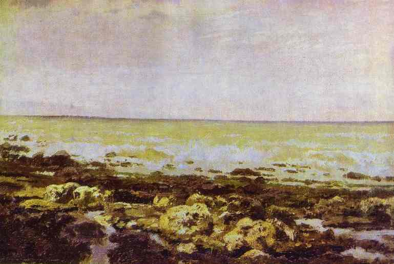 Vasily Dmitrievich Polenov (1844—1927)  Ebb-Tide. Normandy, 1874  Oil on canvas  Museum-Estate of V. Polenov, Tula region, Russia
