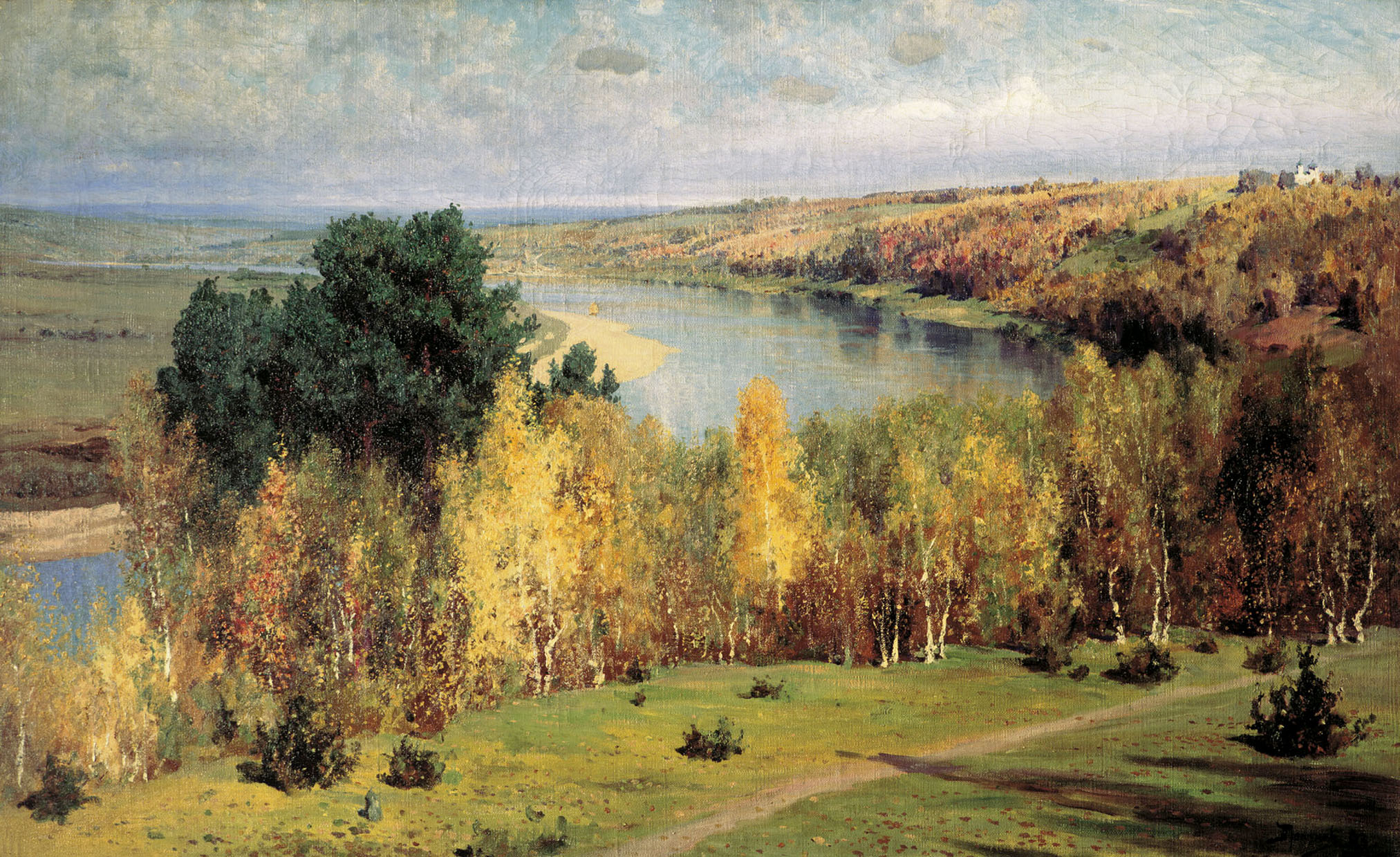 Vasily Dmitrievich Polenov (1844—1927)  Golden Autumn, 1893  Oil on canvas  Museum-Estate of V. Polenov, Tula region, Russia