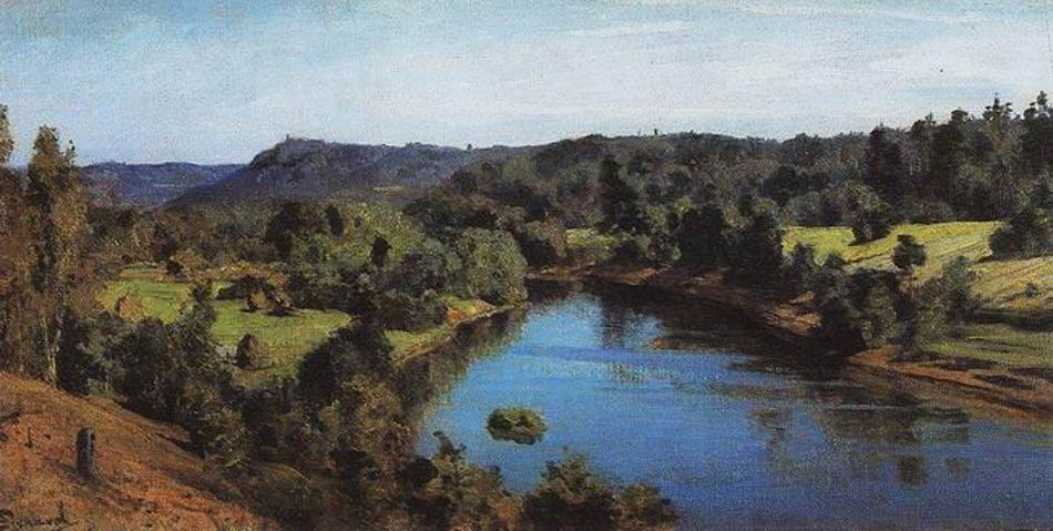 Vasily Dmitrievich Polenov (1844—1927)  The River Oyat. Study, 1880  Oil on canvas  Private collection, Russia
