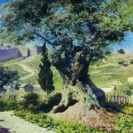 Vasily Dmitrievich Polenov (1844�1927)  An Olive-Tree in the Garden of Gethsemane, 1882  Oil on canvas  The Tretyakov Gallery, Moscow, Russia