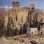 Vasily Dmitrievich Polenov (1844—1927)  Baalbek. The Temple of Jupiter, 1882  Oil on canvas  Astrakhan Region Picture Gallery, Russia