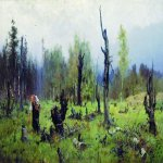 Vasily Dmitrievich Polenov (1844—1927)  Burned forest, 1881  Oil on canvas  The Tretyakov Gallery in Moscow, Russia