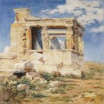 Vasily Dmitrievich Polenov (1844—1927)  Erechteion, 1882  Oil on canvas  27.4x40 cm  The Tretyakov Gallery, Moscow, Russia
