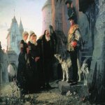 Vasily Dmitrievich Polenov (1844�1927)  Le droit du Seigneur, 1874  Oil on canvas  The Tretyakov Gallery, Moscow, Russia
