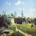 Vasily Dmitrievich Polenov (1844—1927)  Moscow Backyard, 1877  Oil on canvas  80.1x64.5 cm  The Tretyakov Gallery, Moscow, Russia