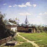 Vasily Dmitrievich Polenov (1844�1927)  Moscow Backyard. Turgenevskaya version, 1877  Oil on canvas  80.1x64.5 cm  The Tretyakov Gallery, Moscow, Russia