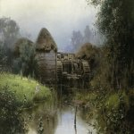 Vasily Dmitrievich Polenov (1844—1927)  Old Mill, 1880  Oil on canvas  Serpukhov Art Museum of History, Moscow Region, Russia