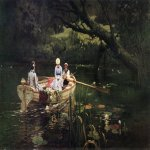 Vasily Dmitrievich Polenov (1844�1927)  On the boat. Abramtsevo, 1880  Oil on canvas  Kiev State Museum of Russian Art, Ukraine