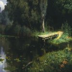 Vasily Dmitrievich Polenov (1844—1927)  Pond, 1879  Oil on canvas  The Tretyakov Gallery, Moscow, Russia