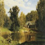 Vasily Dmitrievich Polenov (1844—1927)  Pond in Abramtzevo, 1883  Oil on canvas  Private collection, Moscow, Russia