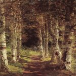 Vasily Dmitrievich Polenov (1844—1927)  The Birchwood Alley in Abramtzevo, 1880  Oil on canvas  The  State Art Museum Abramtzevo, Moscow region, Russia
