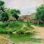 Vasily Dmitrievich Polenov (1844—1927)  Turgenevo Village, 1885  Oil on canvas  Museum-Estate of V. Polenov, Tula region, Russia