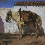 Vasily Dmitrievich Polenov (1844�1927)  White Horse. Normandy, 1874  Oil on canvas  Museum-Estate of V. Polenov, Tula region, Russia