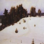 Vasily Dmitrievich Polenov (1844�1927)  Winter, 1890  Oil on canvas  Astrakhan Region Picture Gallery, Russia