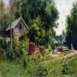 Vasily Dmitrievich Polenov (1844—1927)  Yard, 1881  Oil on canvas  Kharkiv Art Museum, Ukraine