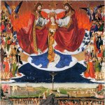 Enguerrand Quarton or Charonton  (1410 – 1466)  The Coronation of Mary  Oil on panel, 1453-1454  183 x 220 cm  Hospice, Villeneuve-les-Avignon, France
