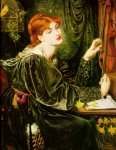 Dante Gabriel Rossetti (1828-1882)  Veronica Veronese  Oil on canvas, 1872  88.9 x 109.2 cm (35