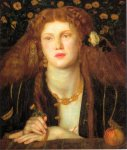 Dante Gabriel Rossetti (1828-1882)  Bocca Baciata, 1859  Oil on panel  27.1 x 32.2 cm (10.67