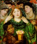 Dante Gabriel Rossetti (1828-1882)  The Beloved  Oil on canvas, 1865-1866  76.2 x 82.6 cm (30