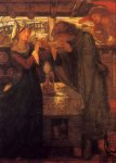 Dante Gabriel Rossetti (1828-1882)  Tristram and Isolde Drinking the Love Potion  Watercolor on paper, 1867  Public collection